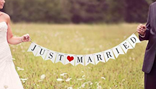 just married banner cheap wedding decor
