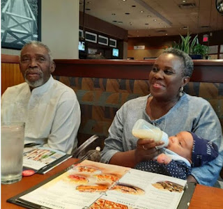 Joke Silva And Hubby, Olu Jacobs, Bond With Grand Daughter [Photos]