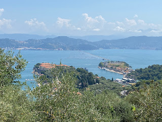 View of Gulf of Spezia with diga foranea