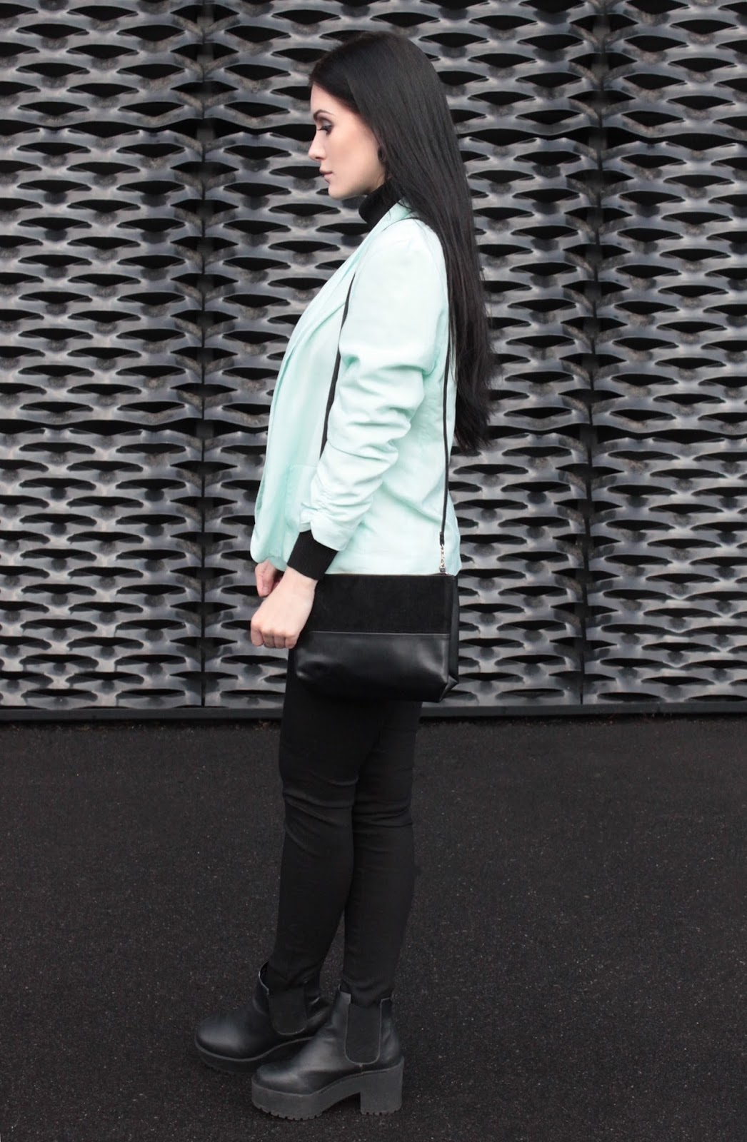 miętowa marynarka l mint jacket l minimal l look