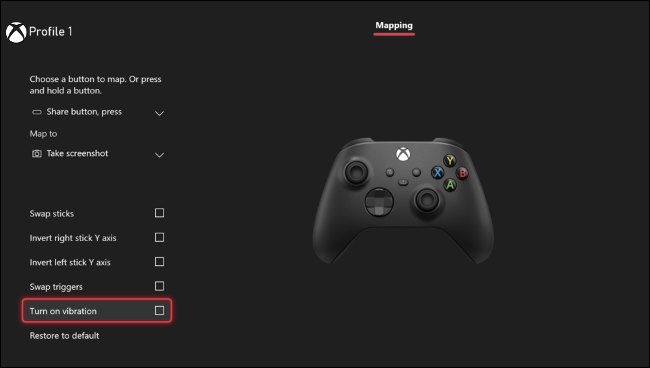 قم بتعطيل Rumble على Xbox One / Series X | S.