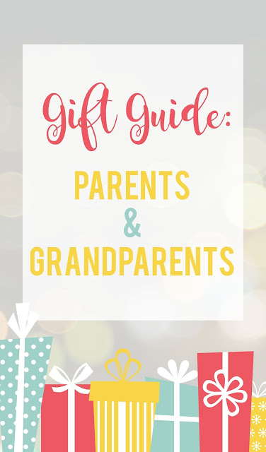 Gift Guide: Parents and Grandparents--great list of all types of gifts for parents and grandparents that they will love!
