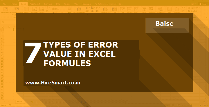 Know The 7 Types Of Error Messages In Excel Formulas And How To Solve Them