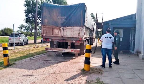 Córdoba: Afip decomisa camión con toneladas de soja sin documentar para evadir impuestos