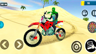 Superhero Motocross Beach Bike Racing Stunt