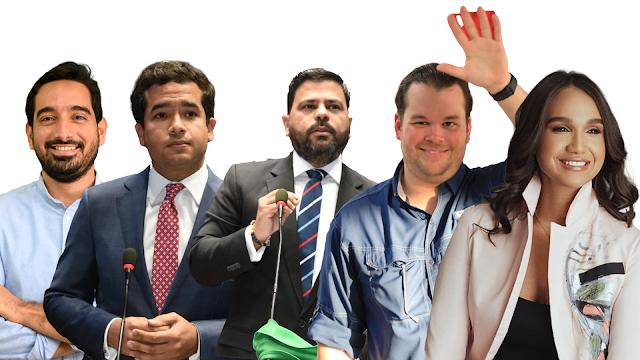 Cinco jóvenes lideran los trabajos legislativos en la Cámara de Diputados del último año