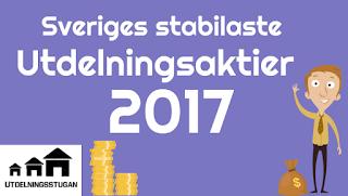 Sveriges stabilaste utdelningsaktier 2017 utdelningsstugan
