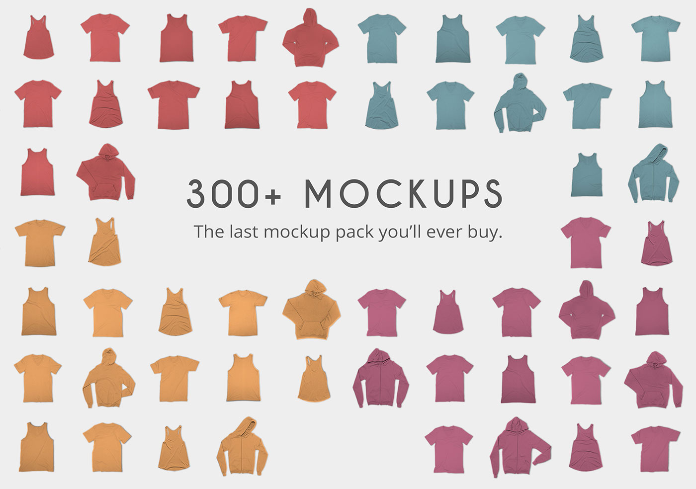 Realistic Apparel Mockup Bundle in PSD Photoshop