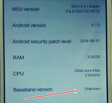 Fix !!! Imei & Baseband Redmi 6/6a Mediatek