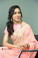 Actress Ritu Varma Pos in Beautiful Pink Anarkali Dress at at Keshava Movie Interview .COM 0216.JPG