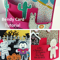 VIDEO Tutorial: How to Make a Bendy Card with Cookie Cutter Christmas and Halloween, Birthday Fiesta,  2016 Stampin' Up! Holiday Catalog www.juliedavison.com