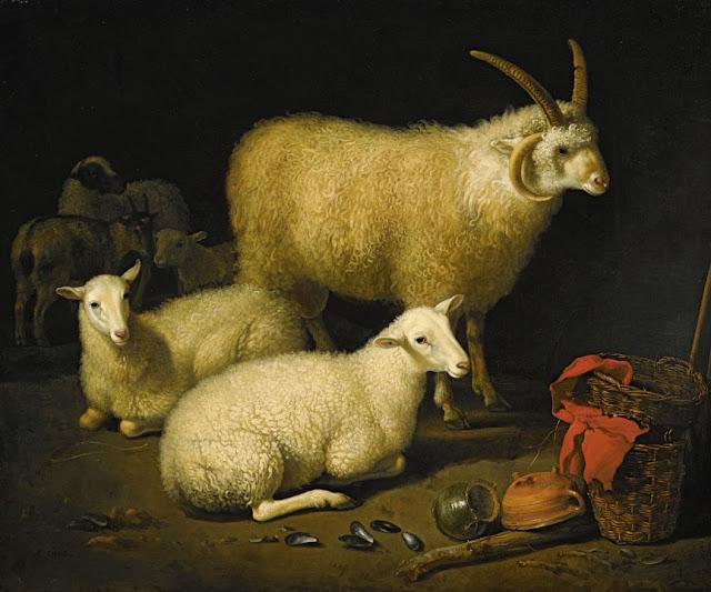 Альберт Кёйп - Овцы в хлеву