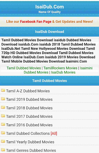 Isaidub 2020:Tamil HD Dubbed Movies Download