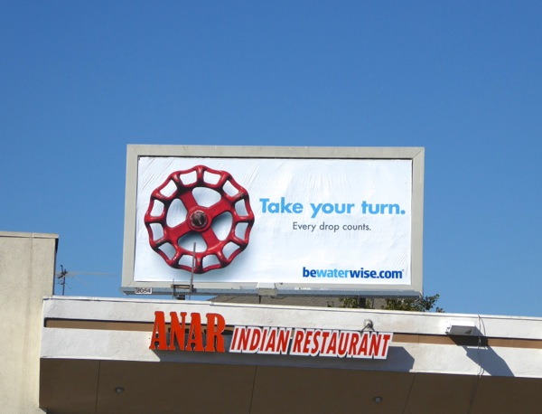Take your turn Be Water wise billboard
