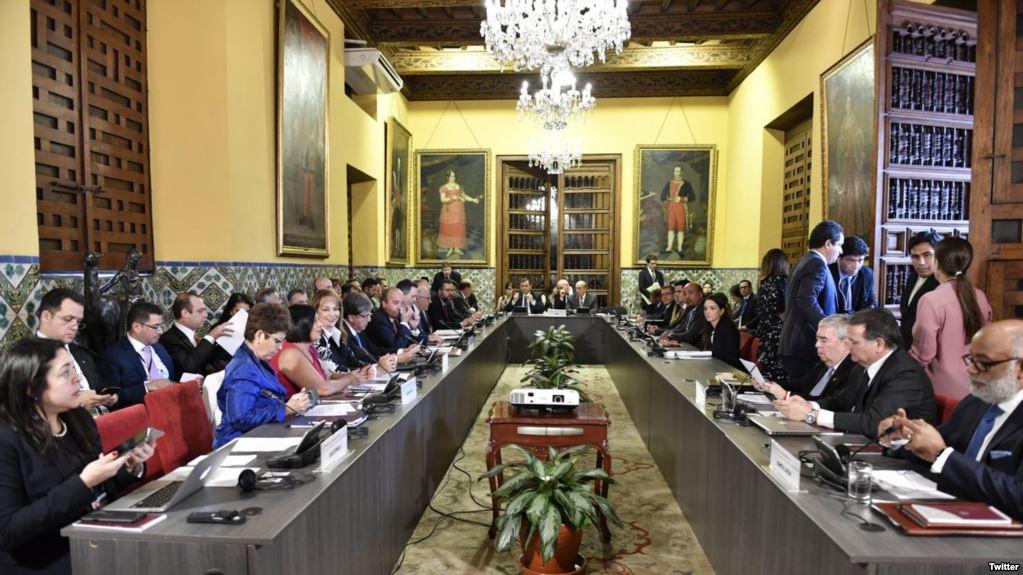 Representantes del Grupo de Lima reunidos en Perú / TWITTER