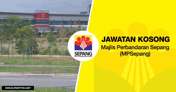 jawatan kosong Majlis Perbandaran Sepang (MPSepang) 2020