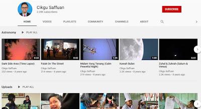 Channel Youtube Cikgu Saffuan guru di pedalaman Sarawak