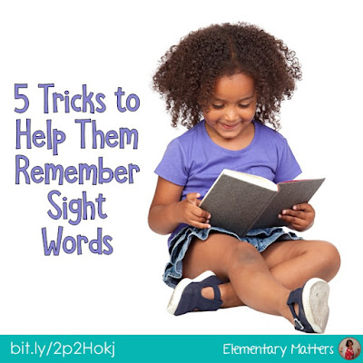5 Tricks to Help Them Remember Sight Words: based on brain research, here are 5 different strategies to help little readers remember sight words.