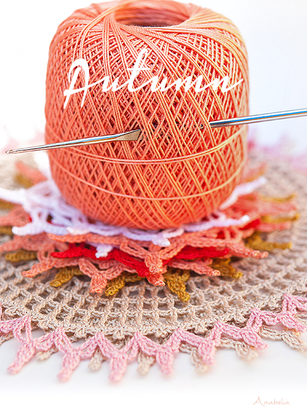 New crochet lace doilies to begin fall season