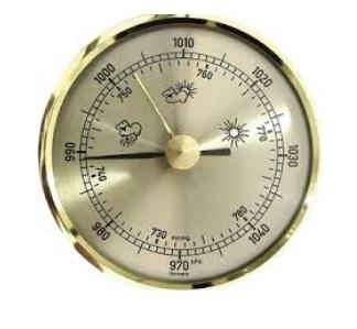جهاز البارومتر  المستخدم فى قياس للضغط الجوي