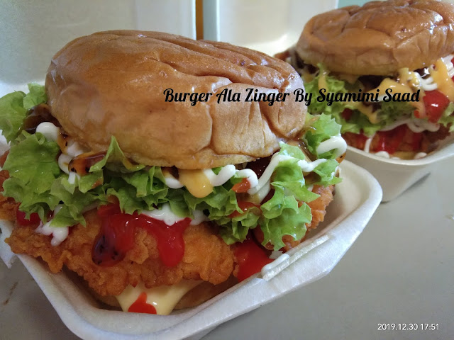 Burger Ala Zinger By Syamimi Saad