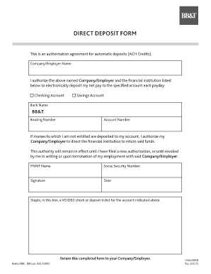 Simple Direct Deposit Form Template Free Donwload - Free Templates ...