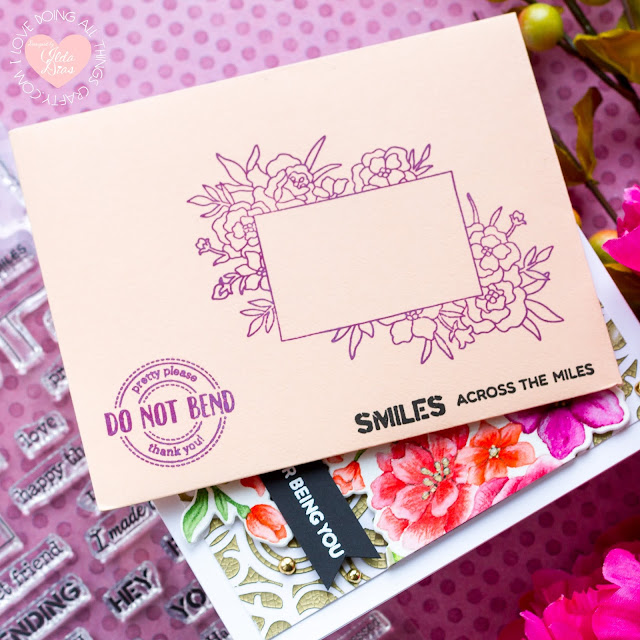 Tonic Studios, September 2020, Heartfelt Corsage, Blog Hop,Giveaway,Happy Mail Envelop,floral cards,Card Making, Stamping, Die Cutting, handmade card, ilovedoingallthingscrafty, Stamps, how to,