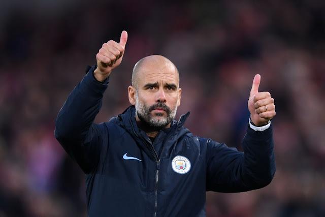 Mancity boss Pep Guardiola. PHOTO BBC