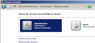 Membuat Account Windows