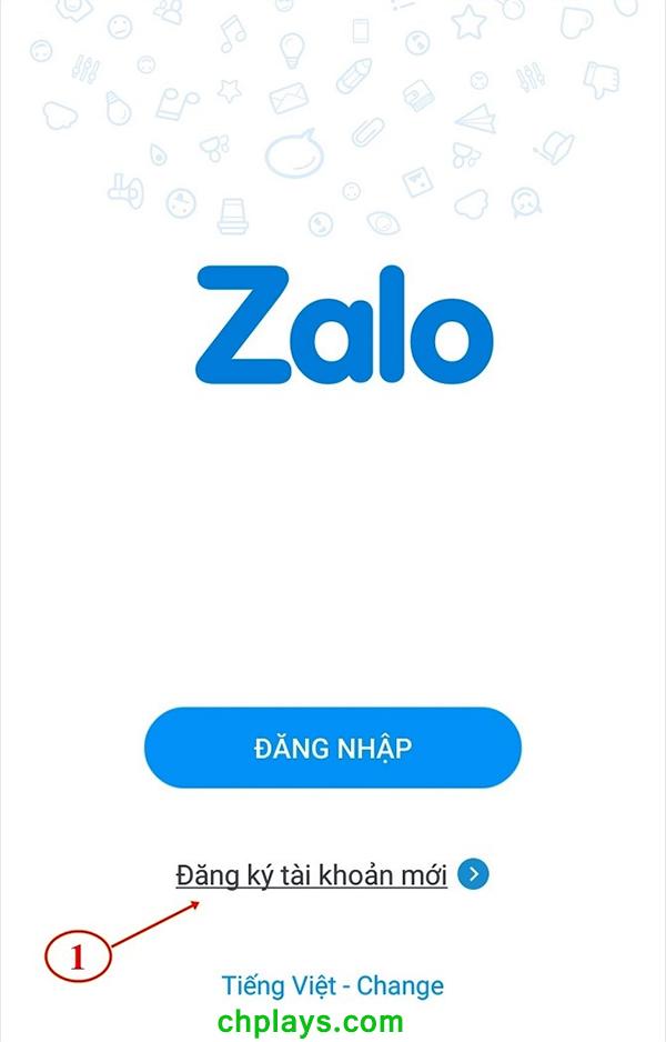Hướng dẫn tạo tài khoản (đăng ký Zalo) a