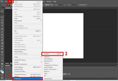 Step ke 2 cara setting zoom menggunakan mouse di photoshop