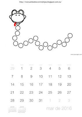 Calendario 2016 gomets marzo