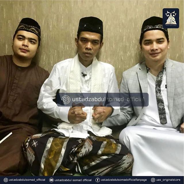 Ustadz Abdul Somad dengan Anak KH Arifin Ilham