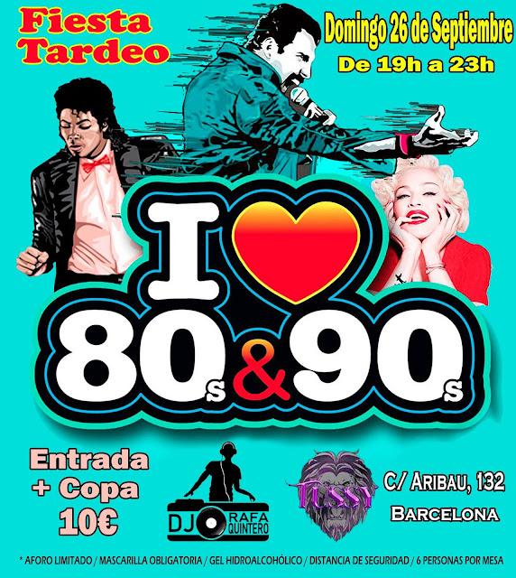 Flyer Fiesta Tardeo I Love 80s&90s
