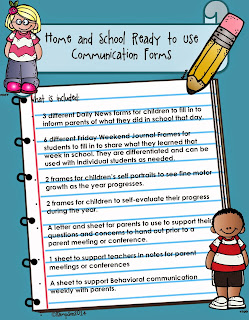 Back to School: Home & School Communication & Student Self-Evaluation Forms&More