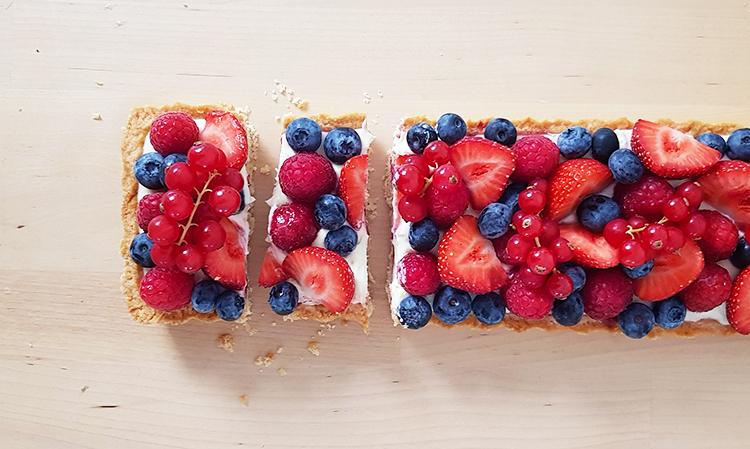 Recette tarte aux fruits rouges et panna cotta citron vert