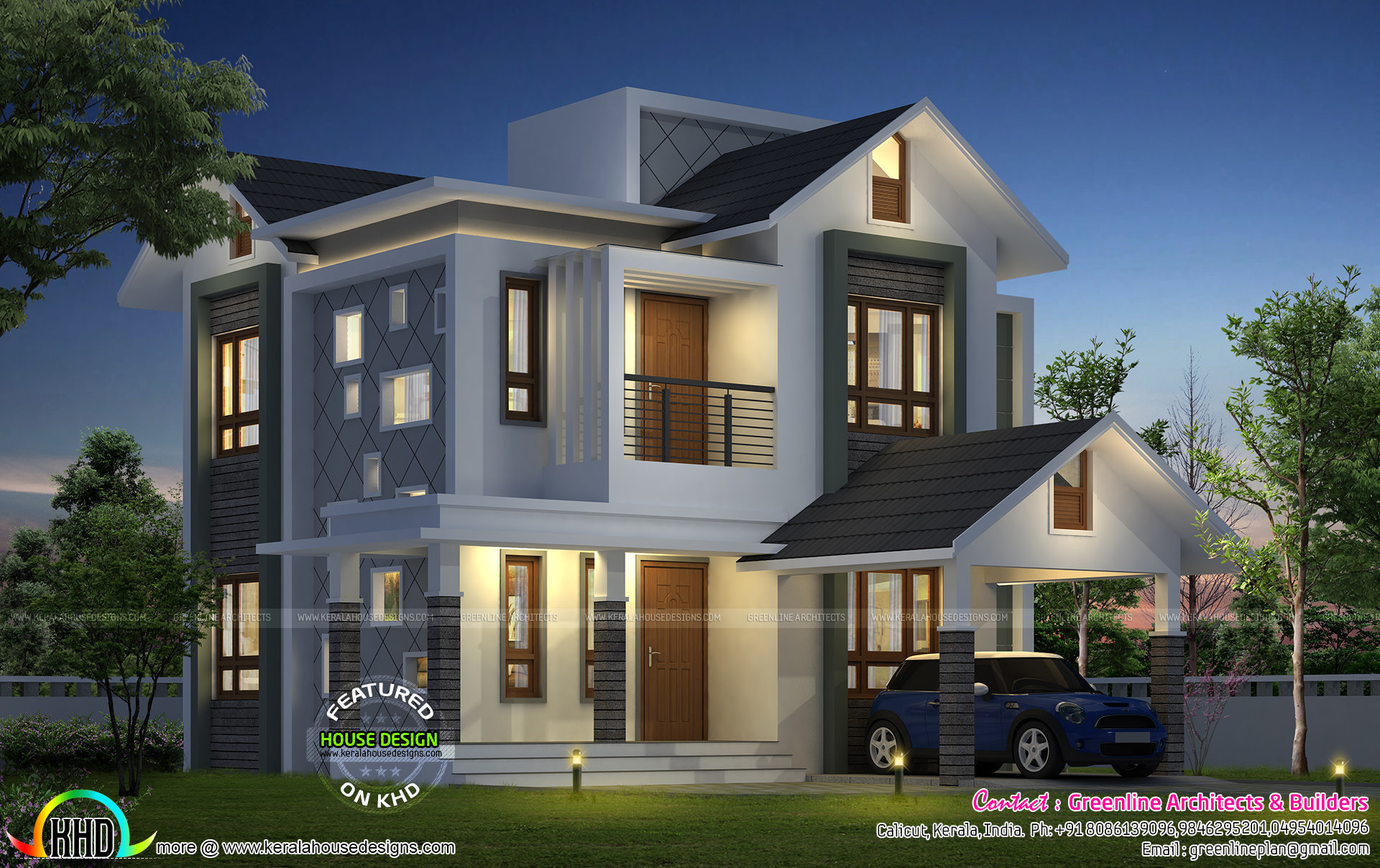 Awesome house with estimated cost of 21 lakhs kerala for Modern house cost