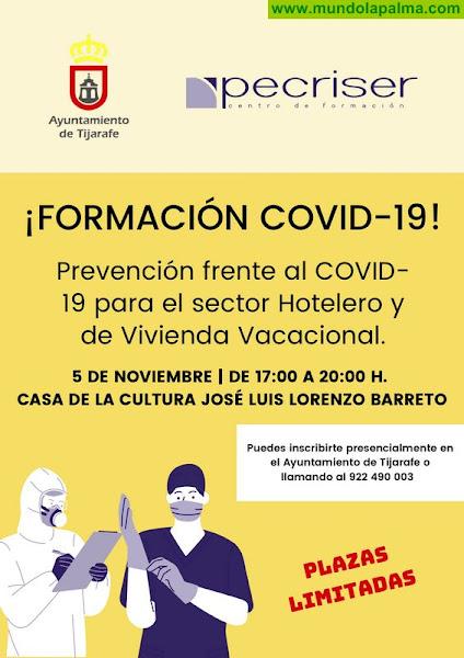 Tijarafe impartirá formación sobre prevención frente al COVID-19 para el sector hotelero y vivienda vacacional