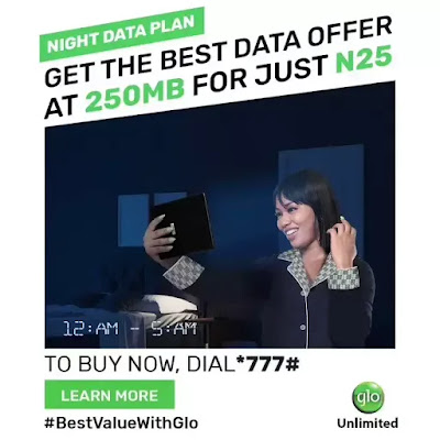 Glo Night Plan Code 2020 - 1GB For N100 Valid For 5 Nights