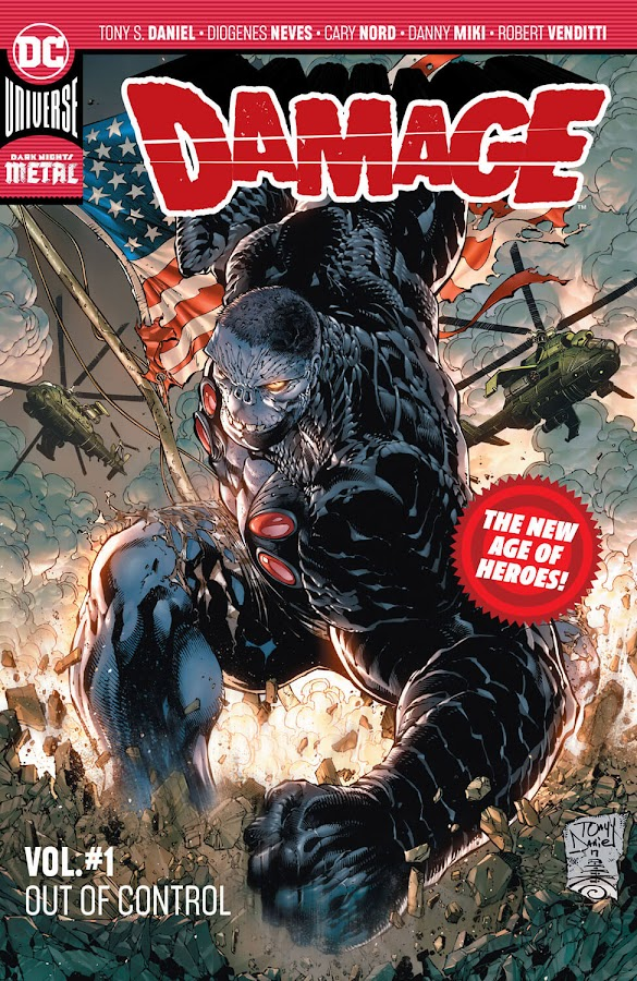 damage out of control dc comics tony daniel robert venditti