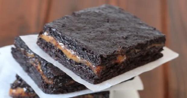 100% Whole Grain Chocolate Caramel Brownies Recipe