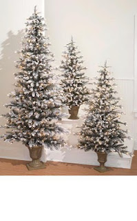 flat Christmas trees, slim profile great for decorating an apartment or office space.