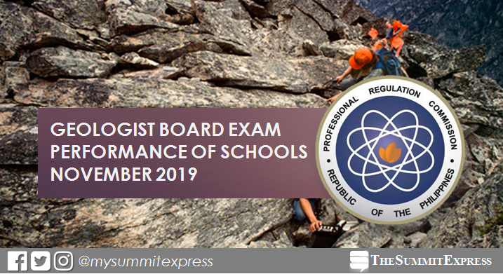 November 2019 Geology board exam result: performance of schools