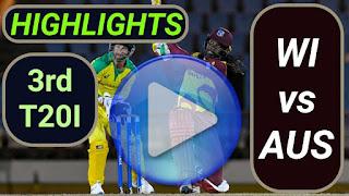 WI vs AUS 3rd T20I 2021