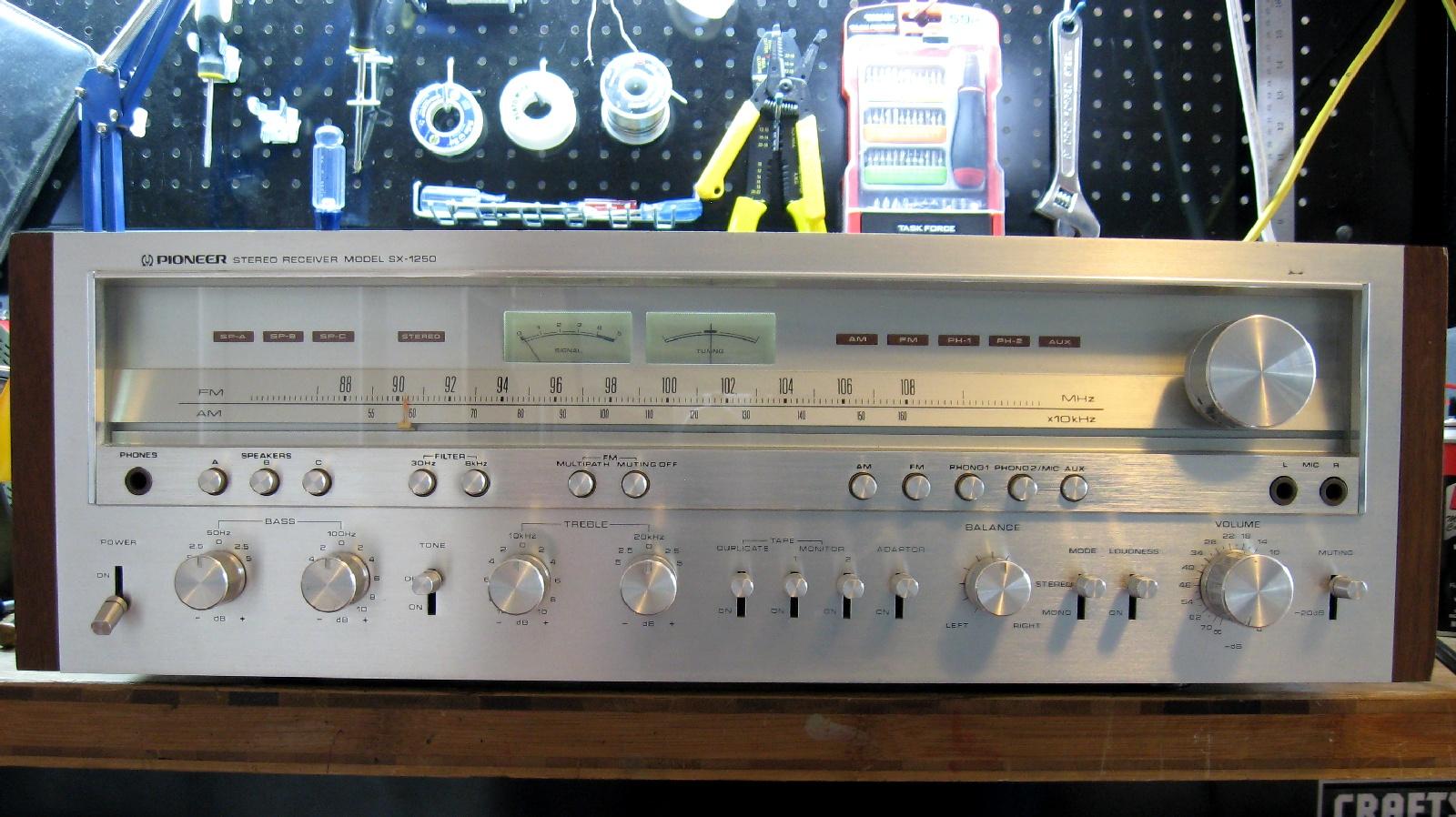 matt 39 s vintage audio repair pioneer sx 1250 score. Black Bedroom Furniture Sets. Home Design Ideas