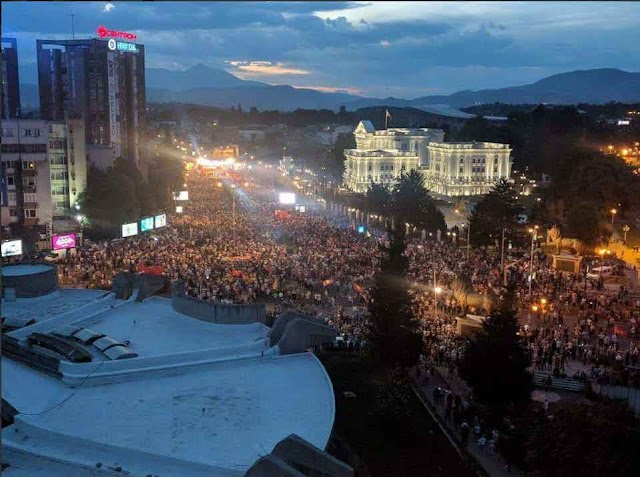 Thousands protest against the government in Macedonia