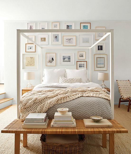 bedroom painted with Benjamin Moore White Wisp