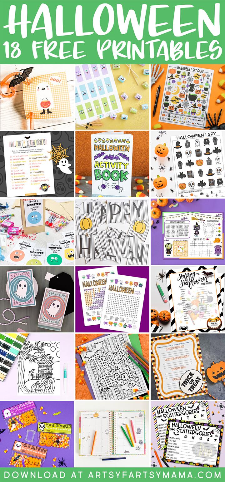 18 Free Halloween Printables