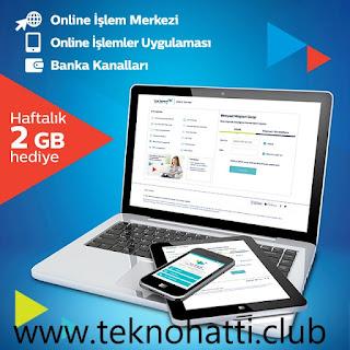 Turk Telekom Faturalı Haftalık 2GB Bedava İnternet - 2020