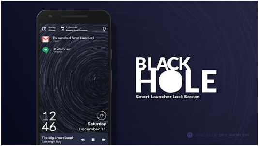 Aplikasi Kunci Layar Android Black Hole